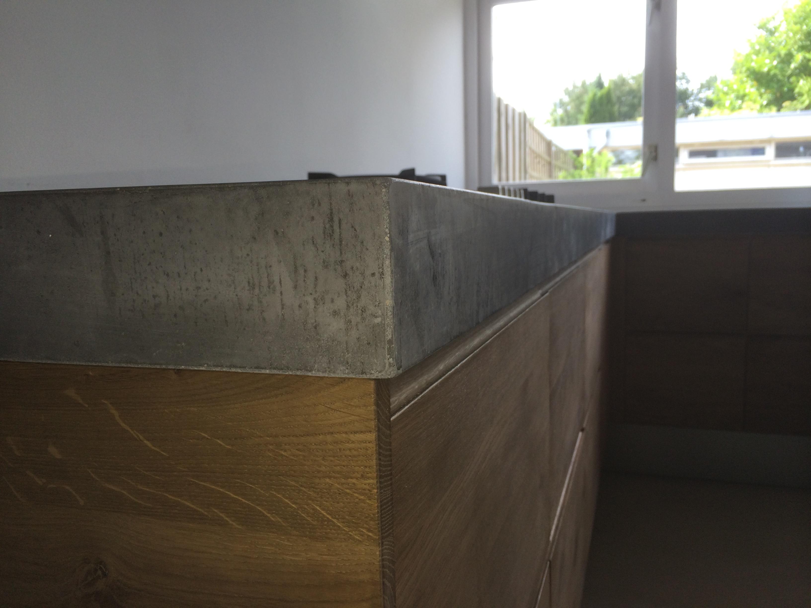 Grijze Houten Keuken : Koak design eiken houten keuken met grijs betonnen blad cm