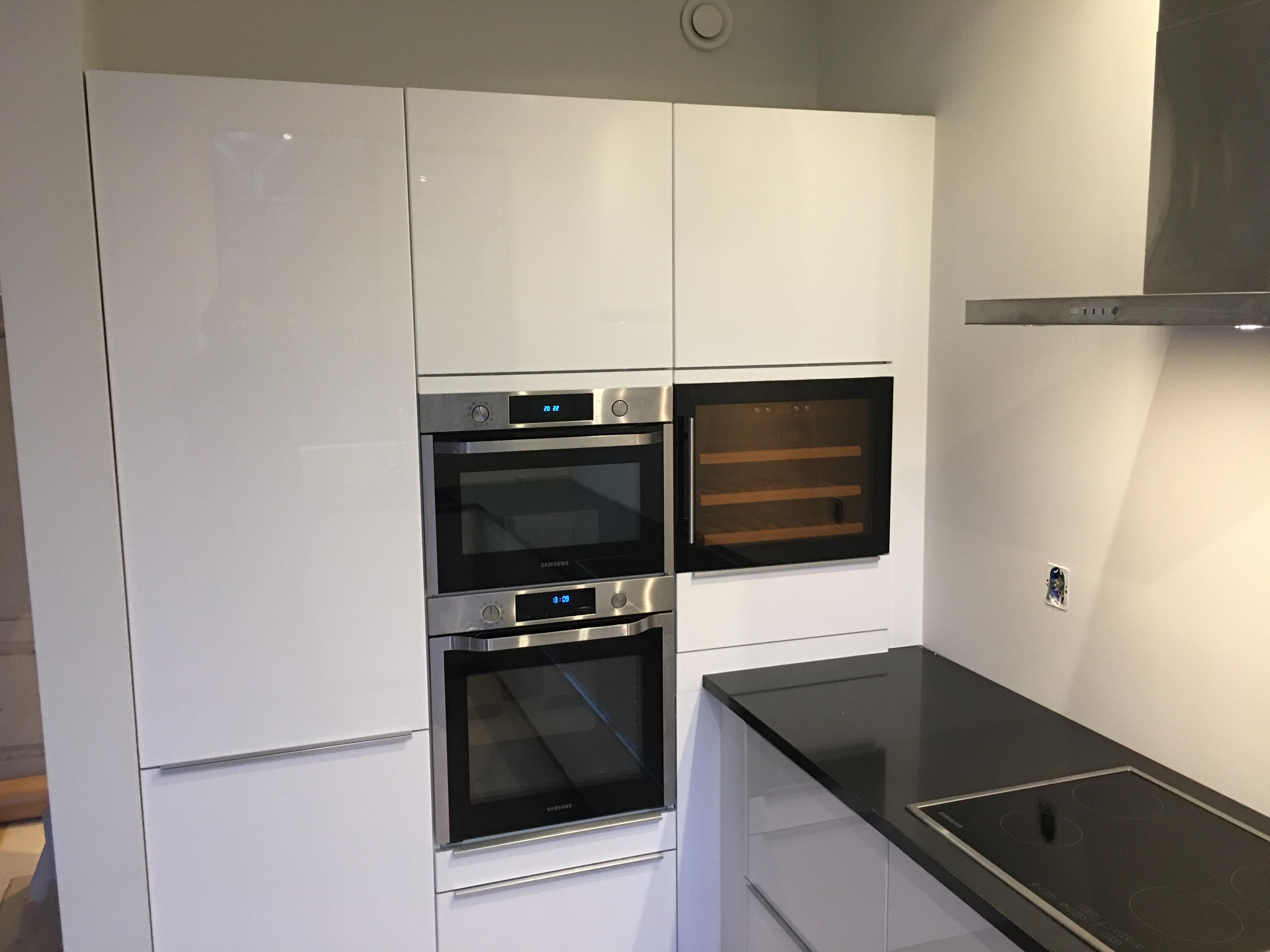 Ikea keukenmontage met samsung keukenapparatuur inbouw
